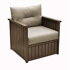 Lot de 2 fauteuils bas Milano aluminium ...