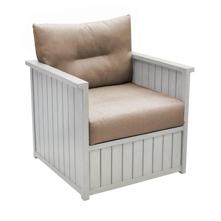 Lot de 2 fauteuils bas Milano aluminium  Pro Loisirs