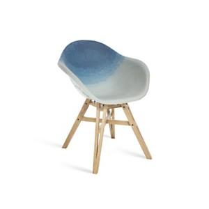 Chaise Gravêne Maximum bleu modèle unique avec pieds en bois