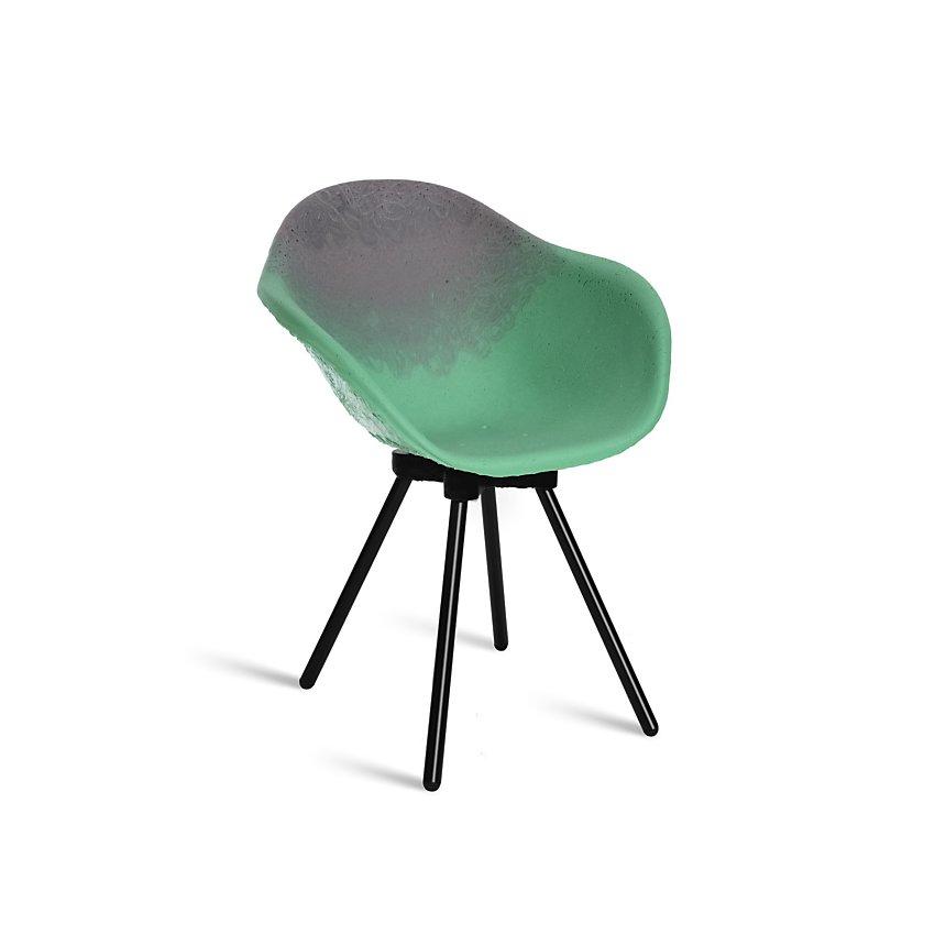 Chaise Gravêne Maximum vert modèle unique avec pieds en métal