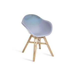 Chaise Gravêne Maximum violet modèle unique avec pieds en bois