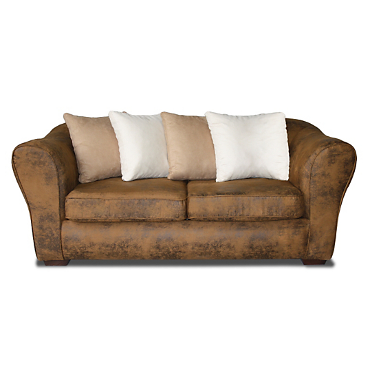 canap microfibre aspect cuir macassar. Black Bedroom Furniture Sets. Home Design Ideas