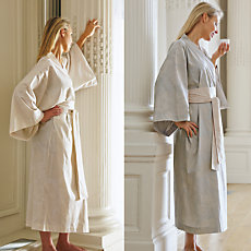 Kimono satin Reseda BLANC DES VO...