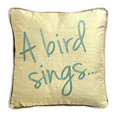Coussin A Bird Sing. LOUNGE FABR...