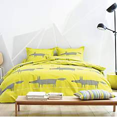 Taie percale Mr Fox SCION LIVING, Citron