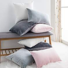 Coussin velours Stockholm