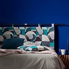 Tête de lit bleu ANDY CAMIF