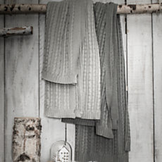 Plaid Tricot gris foncé
