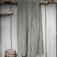 Plaid Tricot gris clair