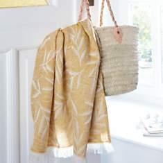 Plaid lin et coton Lana CAMIF, jaune