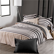 Drap housse percale Stripe Ficel...