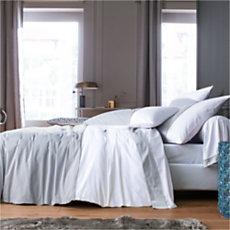 Parure de lit percale Loft BLANC...