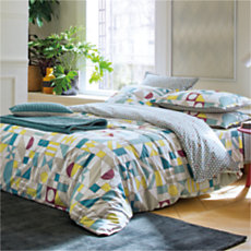 Housse de couette percale Marell...