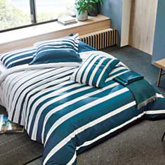 Taie d'oreiller percale Grand Large BLAN...