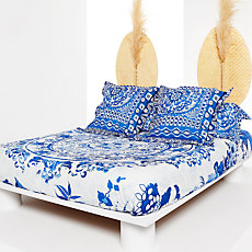 Parure de lit percale Think in B...