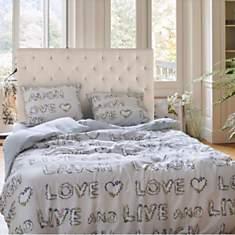 Parure de lit percale Flores ESPRIT HOME