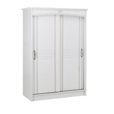 Armoire 2 portes Mathilda Blanch...