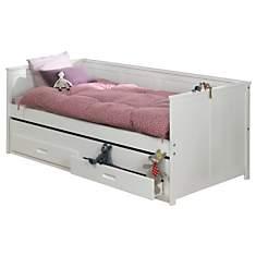 Lit + tiroir lit et rangements Suzie 90 ...