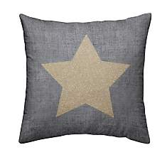 Coussin chambray Gold Etoile