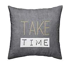Coussin chambray Gold Take Time