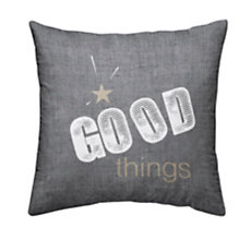 Coussin chambray Gold Good Thing...