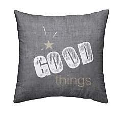 Coussin chambray Gold Good Things