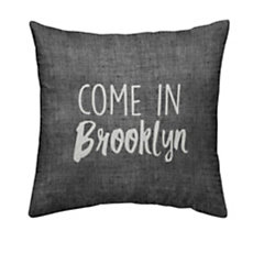 Coussin chambray Come in Brookly...