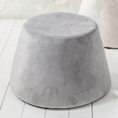 Pouf Waza gris clair