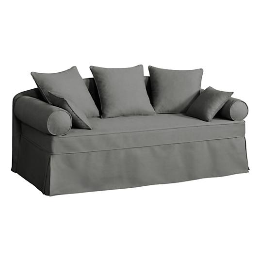 revendeur b025f 75176 Canapé-lit gigogne tissu coton déhoussable Hermitage