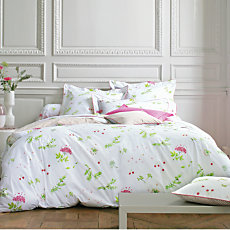Taie percale Bucolique Rose BLAN...
