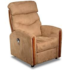 Fauteuil relax microfibre Cannelle,  opt...