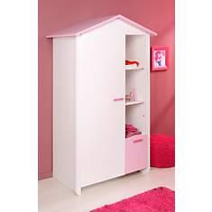 Armoire 1 porte Candice rose