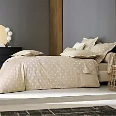 Parure de lit percale Charlotte BLANC  D...