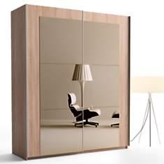 Armoire Daphné L202 cm portes miroir