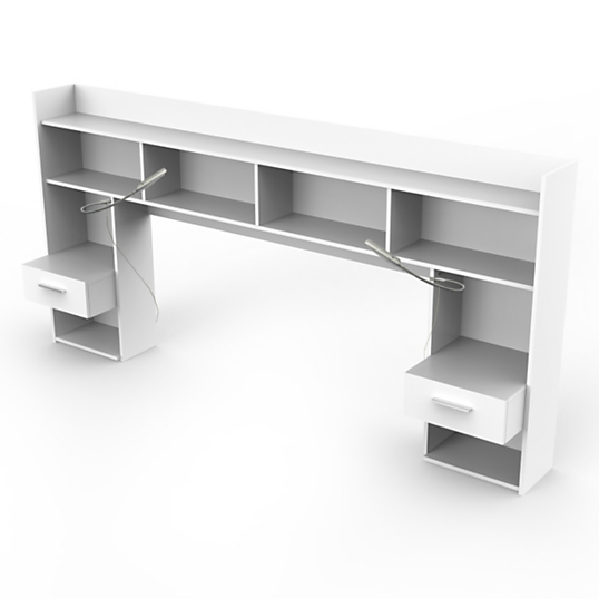 environnement de lit dompierre blanc. Black Bedroom Furniture Sets. Home Design Ideas