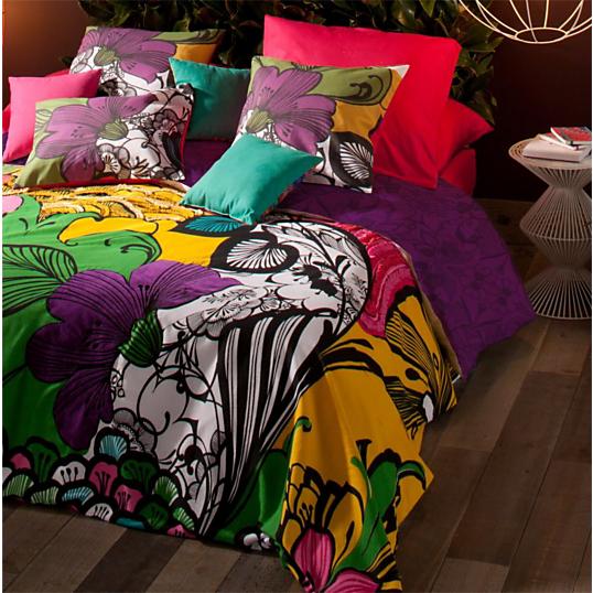 taie d 39 oreiller percale floralia desigual. Black Bedroom Furniture Sets. Home Design Ideas