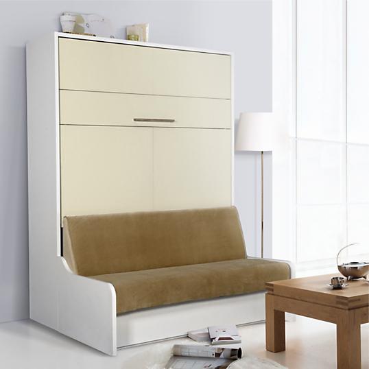 Meuble lit escamotable avec banquette groove - Maison de l armoire lit ...