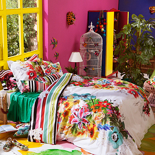 parure de lit percale jungle desigual. Black Bedroom Furniture Sets. Home Design Ideas