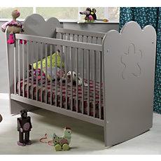 Lit bébé Silène gris àbarreaux...