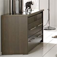 Commode 3 tiroirs Mareva gris