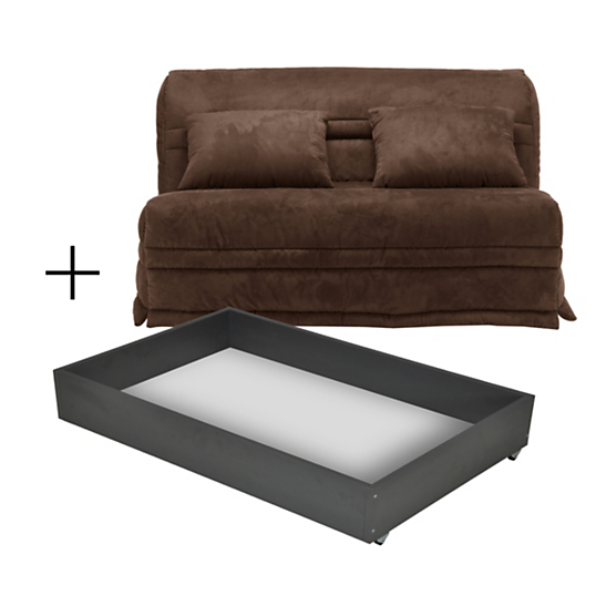 banquette bz spice avec tiroir matelas 15 cm. Black Bedroom Furniture Sets. Home Design Ideas