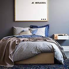 Parure de lit percale Pile ou Face  ESSI...