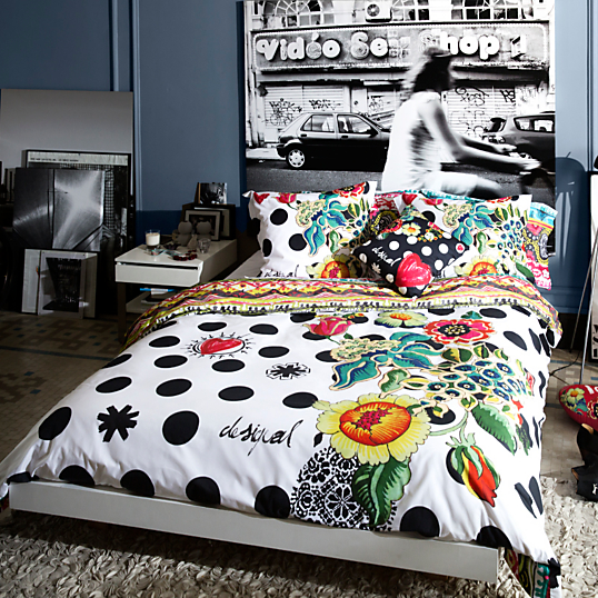 couvre lit desigual Housse de couette percale Polka Dots DESIGUAL couvre lit desigual