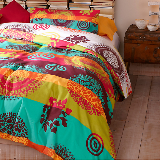 housse de couette percale rainbow desigual. Black Bedroom Furniture Sets. Home Design Ideas