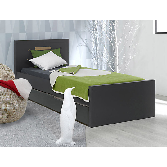 lit stan tiroir lit gigogne gris 90 x 200 cm. Black Bedroom Furniture Sets. Home Design Ideas
