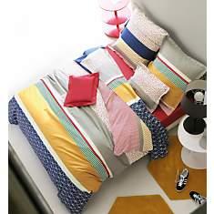 Parure de lit percale Saint Malo BLANC  ...