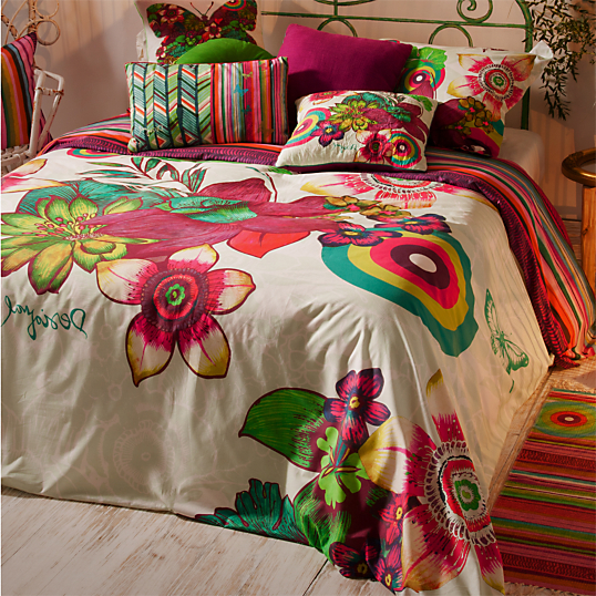 parure de lit percale tropikal desigual. Black Bedroom Furniture Sets. Home Design Ideas