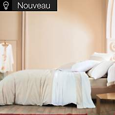 Housse de couette percale Mystery BLANC ...