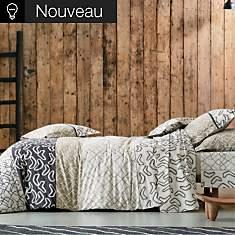 Parure de lit Variations Ebène BLANC DES...