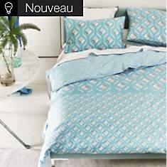 Parure de lit satin Chareau Azure  DESIG...